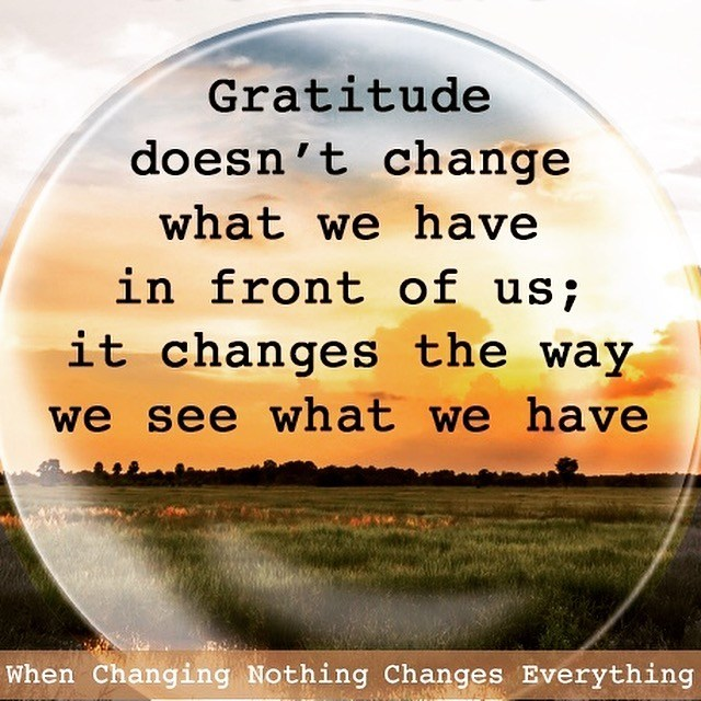 Gratitude Changes #thankyouthursdays #gratitude #peacewords #peace