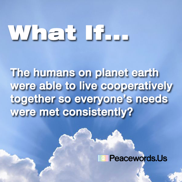 Cooperation #peace #peacewords #cooperativeliving