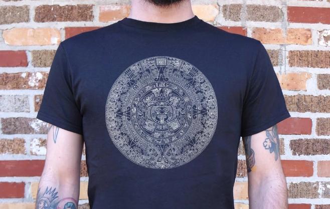 Aztec Calendar T-Shirt #peace #peacewords