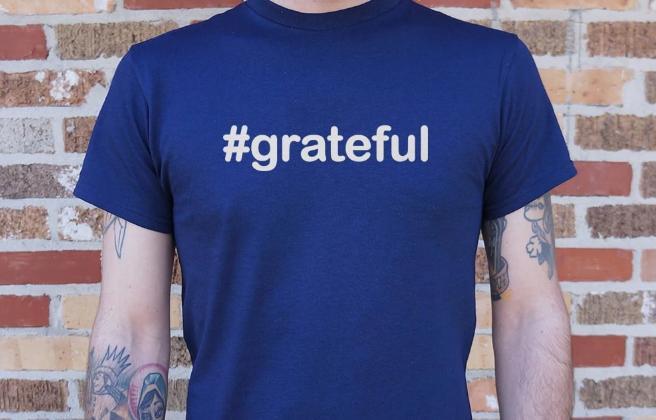 Hashtag Grateful T-Shirt  #peace #peacewords #grateful