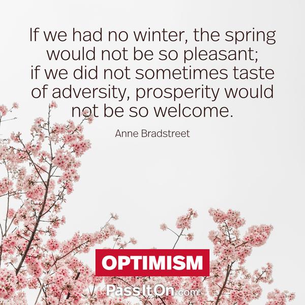 Optimism #peace #peacewords #optimism