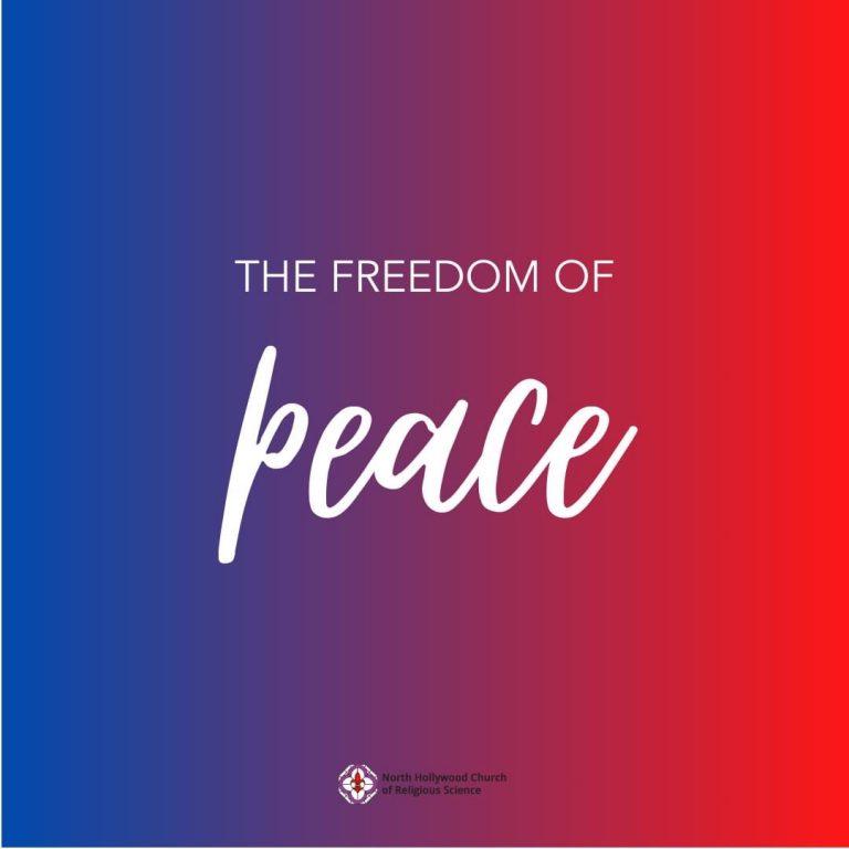 Peace =  Freedom