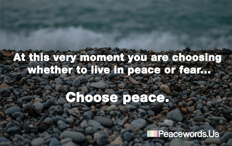 Choose Peace